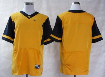 NEW West Virginia Mountaineers Blank College Football Elite Jerseys - Gold