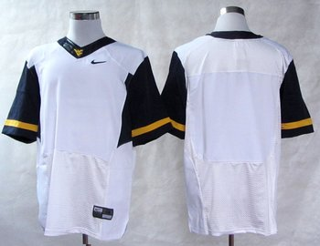 NEW West Virginia Mountaineers Blank College Football Elite Jerseys - White