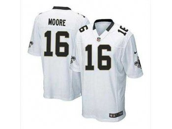 NEW jerseys new orleans saints #16 lance moore white(game)