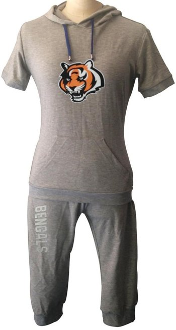 NFL Cincinnati Bengals women's Hooded sport suit Grey