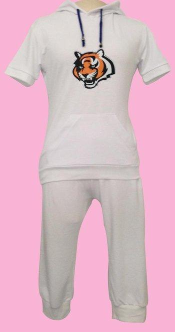 NFL Cincinnati Bengals women's Hooded sport suit White