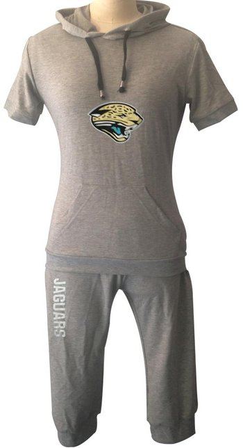 NFL Jacksonville Jaguars women's Hooded sport suit Grey