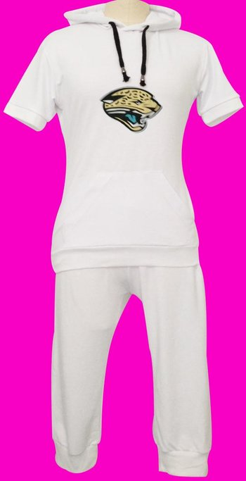 NFL Jacksonville Jaguars women's Hooded sport suit White