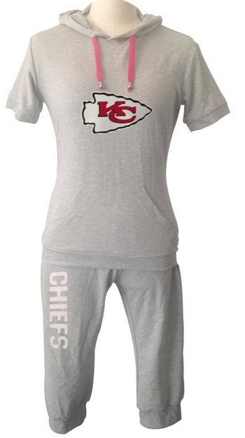 NFL Kansas City Chiefs women's Hooded sport suit Grey