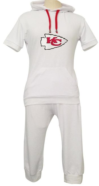 NFL Kansas City Chiefs women's Hooded sport suit White