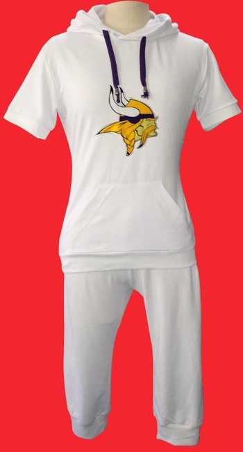 NFL Minnesota Vikings women's Hooded sport suit White