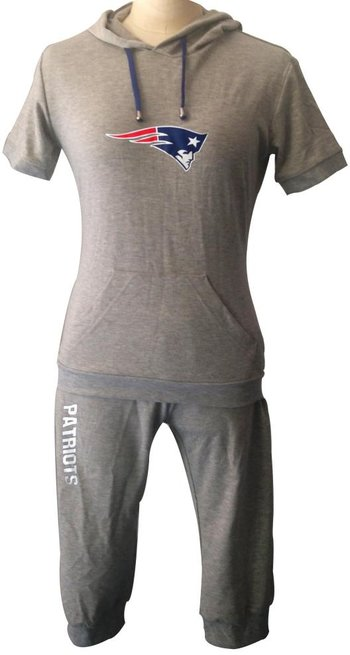 NFL New England Patriots women's Hooded sport suit Grey