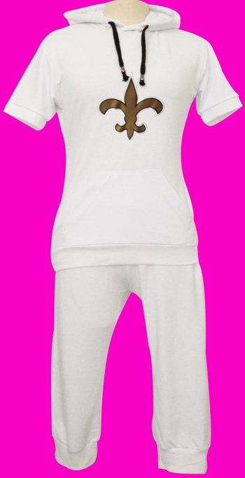 NFL New Orleans Saints women's Hooded sport suit White