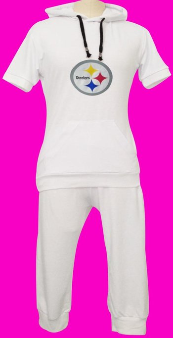 NFL Pittsburgh Steelers women's Hooded sport suit White