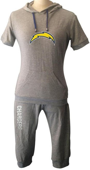 NFL San Diego Chargers women's Hooded sport suit Grey