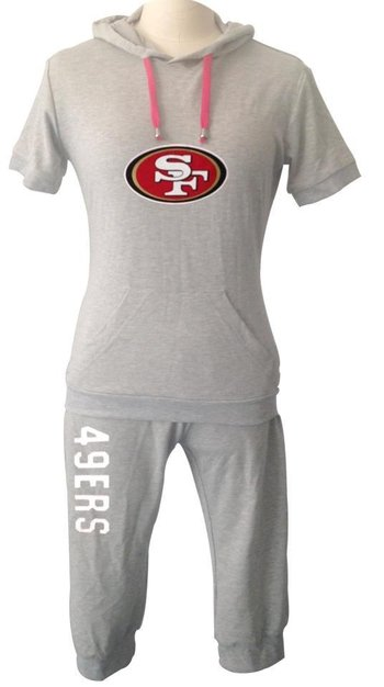 NFL San Francisco 49ers women's Hooded sport suit Grey