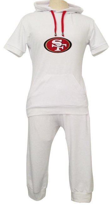 NFL San Francisco 49ers women's Hooded sport suit White