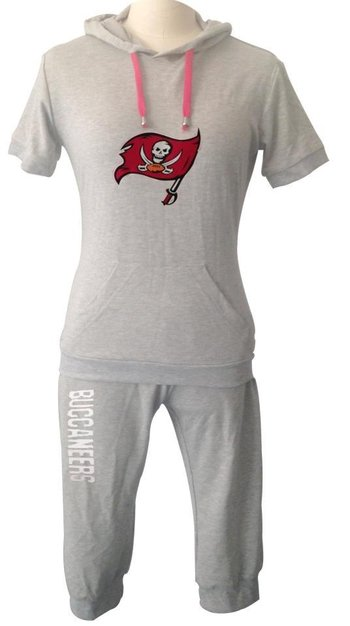 NFL Tampa Bay Buccaneers women's Hooded sport suit Grey