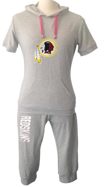 NFL Washington Redskins women's Hooded sport suit Grey