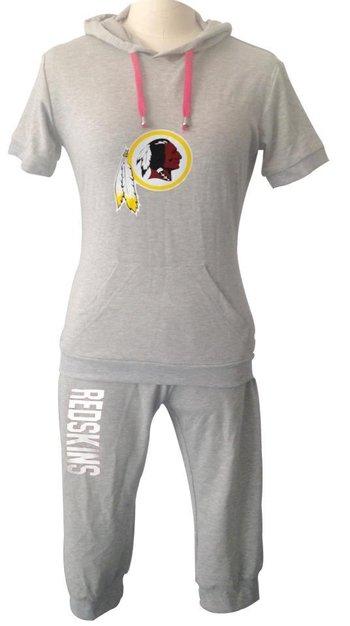 NFL Washington Redskins women's Hooded sport suit Grey