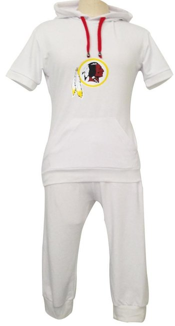 NFL Washington Redskins women's Hooded sport suit White