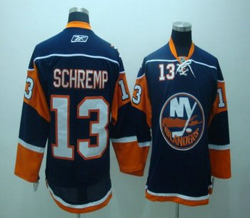 NHL Jerseys Channel Islands #13 SCHREMP blue