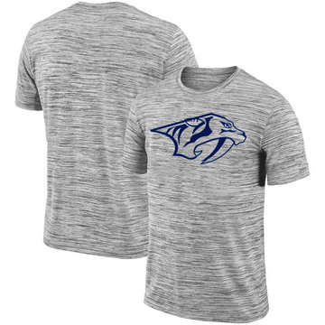 Nashville Predators 2018 Heathered Black Sideline Legend Velocity Travel Performance T-Shirt
