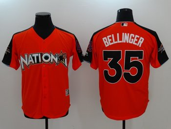 National League 35 Cody Bellinger Orange 2017 MLB All Star Game Home Run Derby Player Jersey