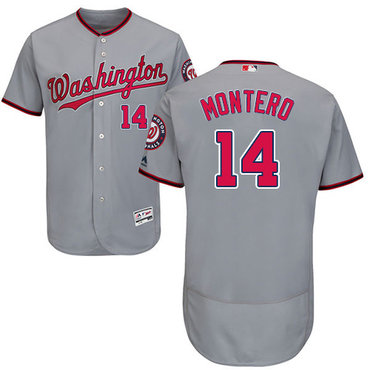 Nationals #14 Miguel Montero Grey Flexbase Authentic Collection Stitched MLB Jersey