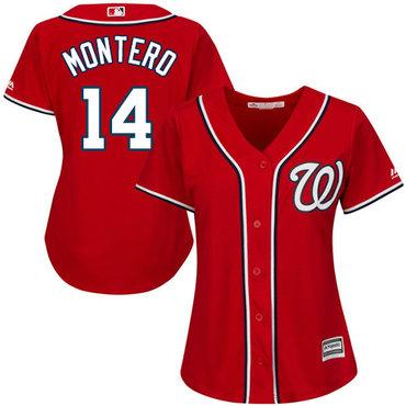 Nationals #14 Miguel Montero Red Alternate Women's Stitched MLB Jersey