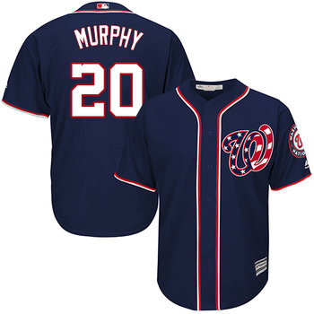 Nationals #20 Daniel Murphy Navy Blue Cool Base Stitched Youth MLB Jersey