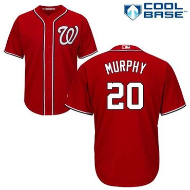 Nationals #20 Daniel Murphy Red New Cool Base Stitched MLB Jersey