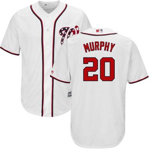 Nationals #20 Daniel Murphy White New Cool Base Stitched MLB Jersey