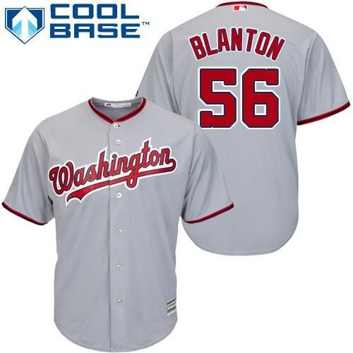 Nationals #56 Joe Blanton Grey Cool Base Stitched Youth MLB Jersey