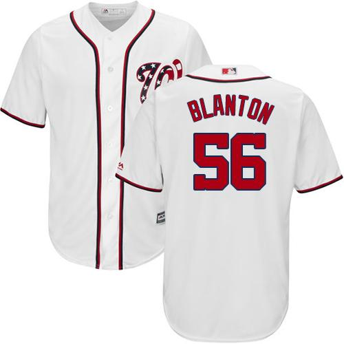 Nationals #56 Joe Blanton White Cool Base Stitched Youth MLB Jersey