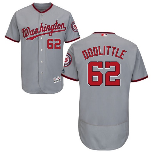 Nationals #62 Sean Doolittle Grey Flexbase Authentic Collection Stitched Baseball Jersey