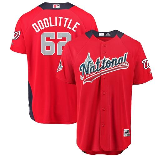 Nationals #62 Sean Doolittle Red 2018 All-Star National League Stitched Baseball Jersey