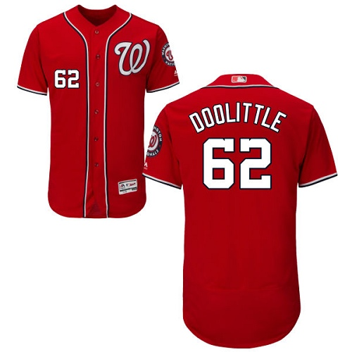 Nationals #62 Sean Doolittle Red Flexbase Authentic Collection Stitched Baseball Jersey