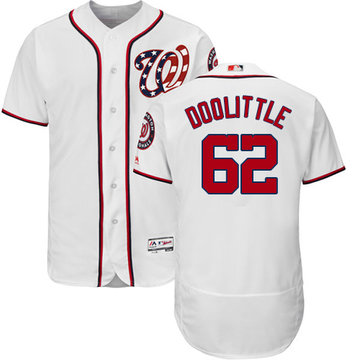 Nationals #62 Sean Doolittle White Flexbase Authentic Collection Stitched Baseball Jersey