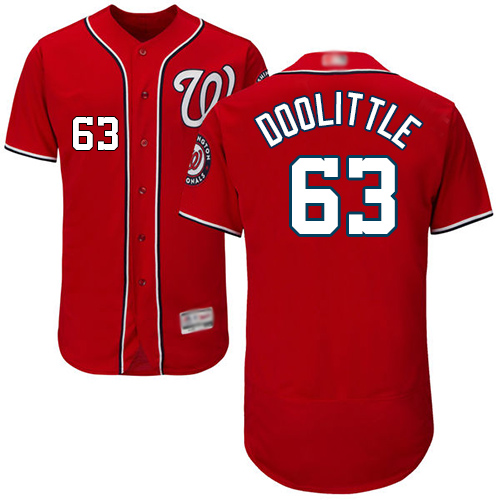 Nationals #63 Sean Doolittle Red Flexbase Authentic Collection Stitched Baseball Jersey