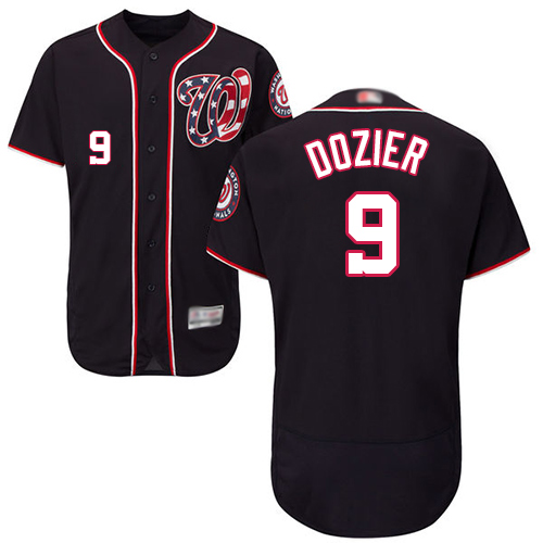 Nationals #9 Brian Dozier Navy Blue Flexbase Authentic Collection Stitched Baseball Jersey
