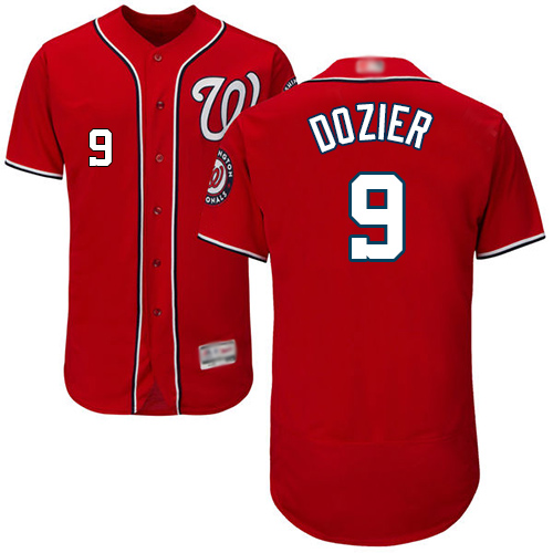 Nationals #9 Brian Dozier Red Flexbase Authentic Collection Stitched Baseball Jersey