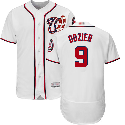 Nationals #9 Brian Dozier White Flexbase Authentic Collection Stitched Baseball Jersey