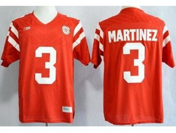 Nebraska Cornhuskers 3 Taylor Martinez Red NCAA Jerseys