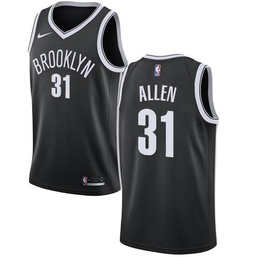 Nets #31 Jarrett Allen Black Basketball Swingman Icon Edition Jersey