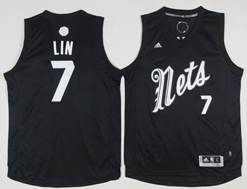 Nets #7 Jeremy Lin Black 2016-2017 Christmas Day Stitched NBA Jersey