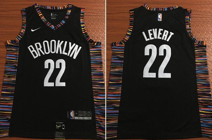 Nets 22 Caris LeVert Black City Edition Nike Swingman Jersey