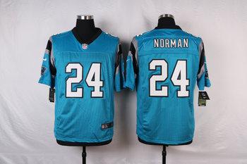 New Carolina Panthers #24 Josh Norman Blue Color Men's Stitched NFL Elite Jersey