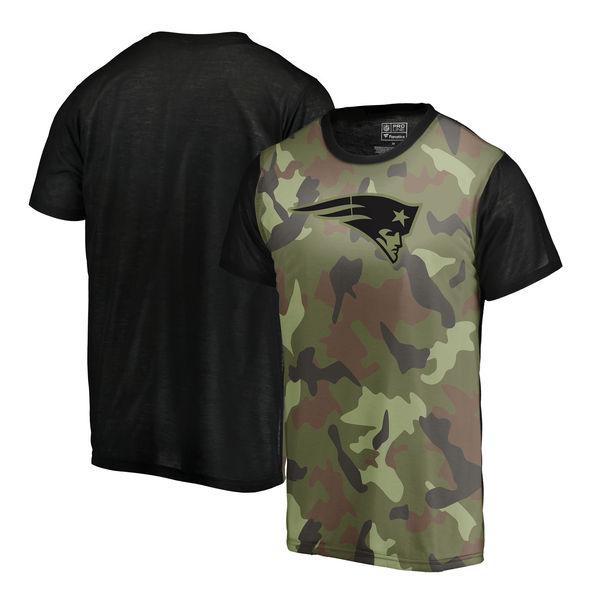 New England Patriots Camo NFL Pro Line By Fanatics Branded Blast Sublimated T Shirt