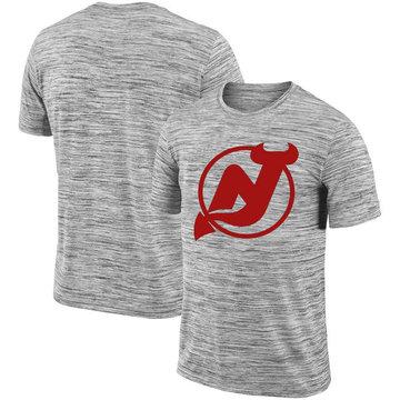 New Jersey Devils 2018 Heathered Black Sideline Legend Velocity Travel Performance T-Shirt