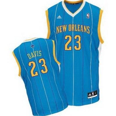 New Orleans Hornets 23# Anthony Davis Green Jersey