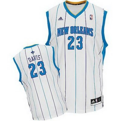 New Orleans Hornets 23# Anthony Davis white Jersey