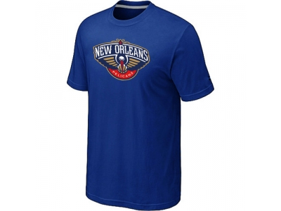 New Orleans Pelicans Big & Tall Primary Logo Blue T-Shirt