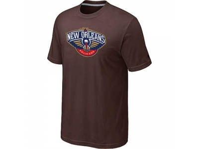 New Orleans Pelicans Big & Tall Primary Logo Brown T-Shirt