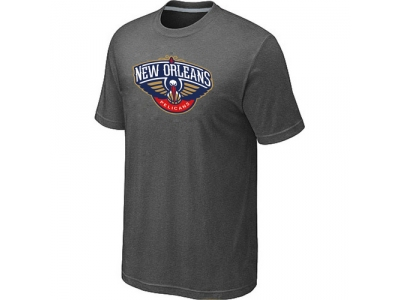 New Orleans Pelicans Big & Tall Primary Logo D.Grey T-Shirt